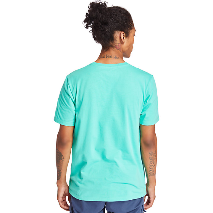 Linear T-shirt voor Heren in groen-