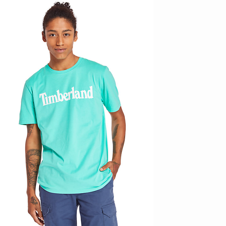 T-shirt da Uomo Linear in verde-