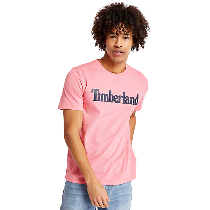 Linear T-shirt voor Heren in roze-