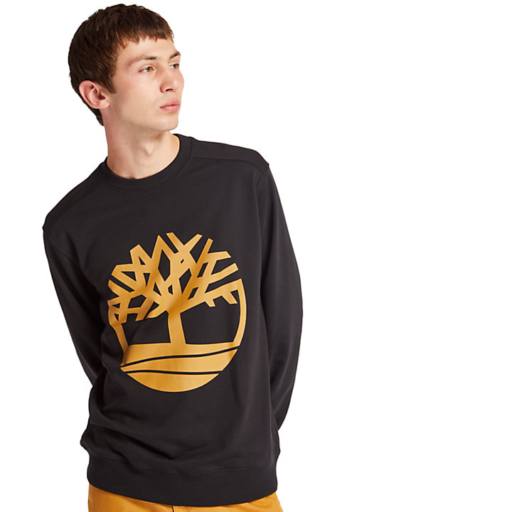 Tree Logo Sweatshirt for Men in Black-