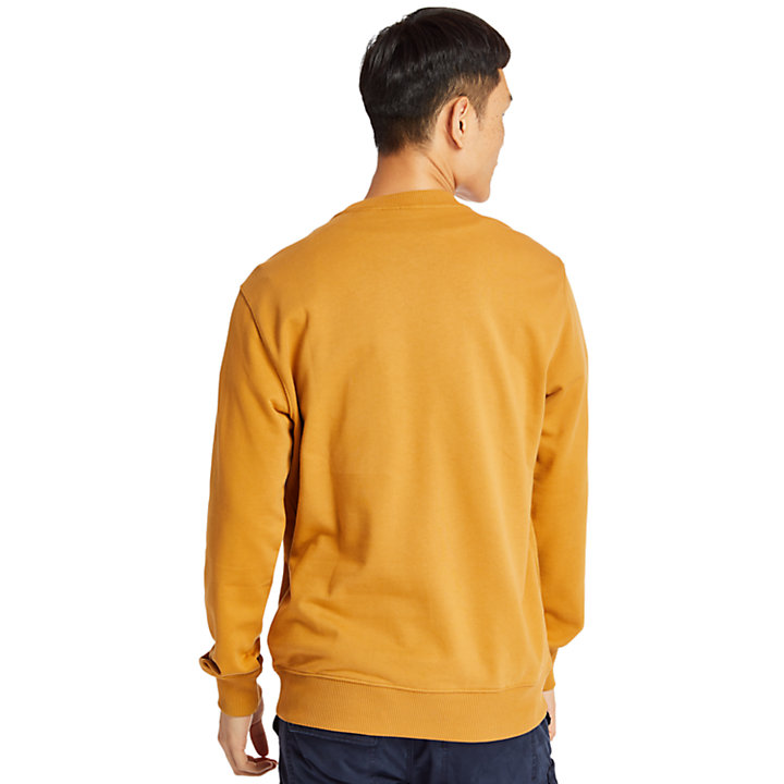 Tree Logo Sweatshirt for Men in Yellow-