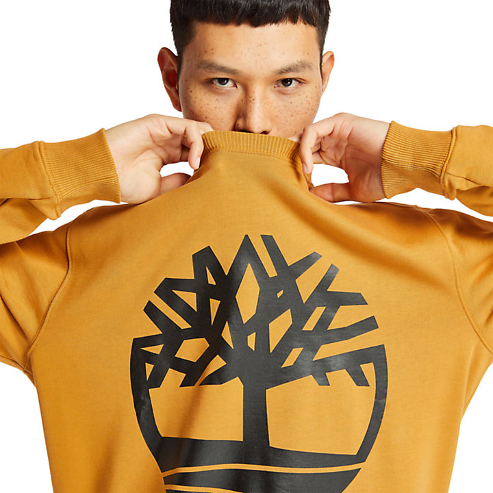 Tree Logo Sweatshirt voor Heren in geel-