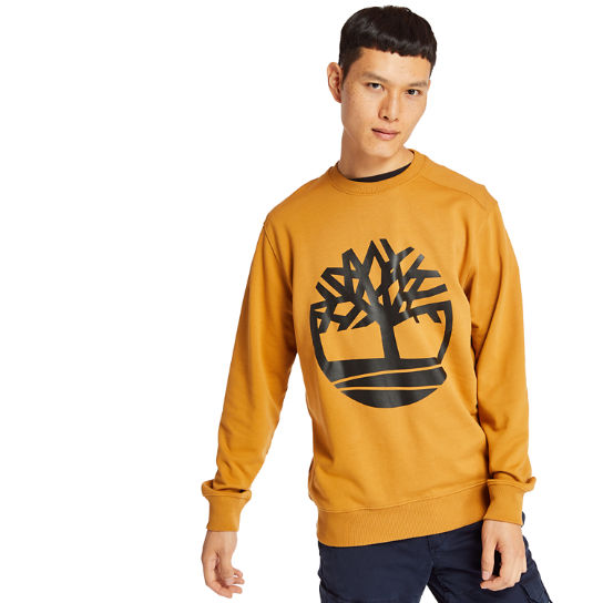 Tree Logo Sweatshirt voor Heren in geel | Timberland