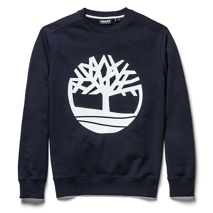 Sweat à logo arbre pour homme en bleu marine-