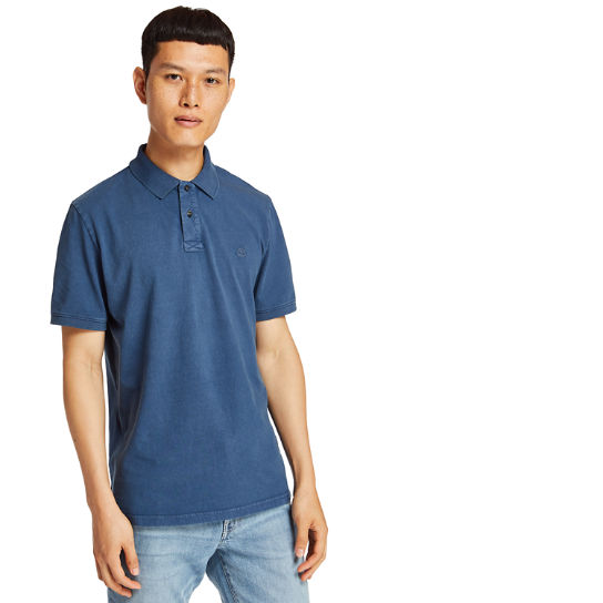 Sunwashed Jersey Polo Shirt for Men in Dark Blue | Timberland