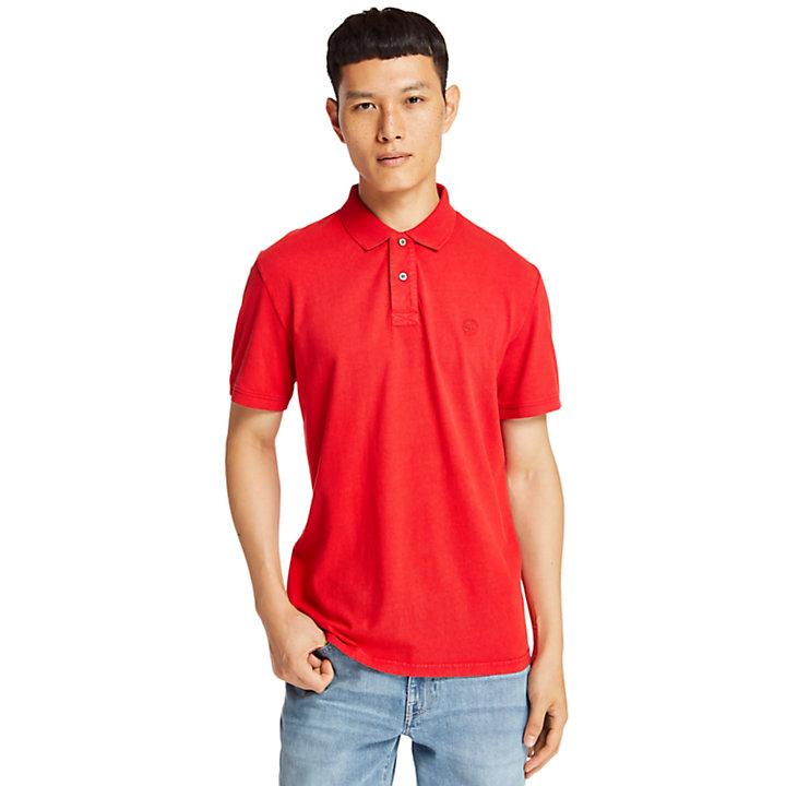 Polo Sunwashed en jersey pour homme en rouge-