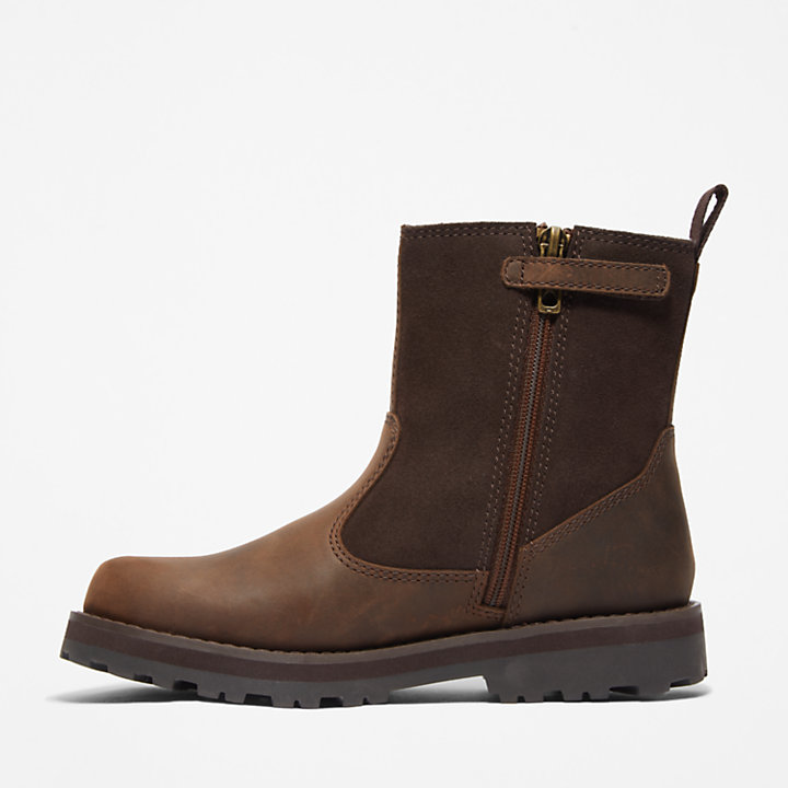 Courma Kid Lined Boot for Junior in Brown-