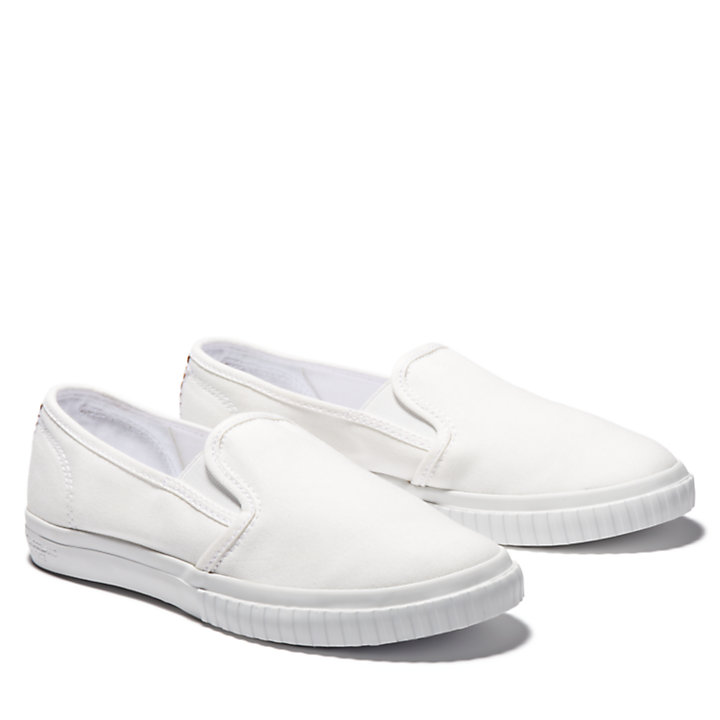 Scarpa Slip-On da Donna Newport Bay in bianco-