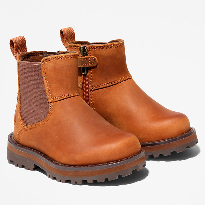 Courma Kid Chelsea Boot for Toddler in Brown-
