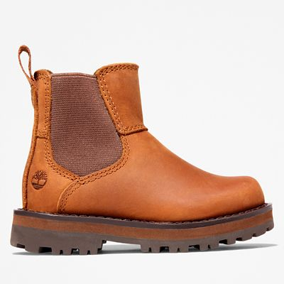 Courma+Kid+Chelsea+Boot+for+Toddler+in+Brown