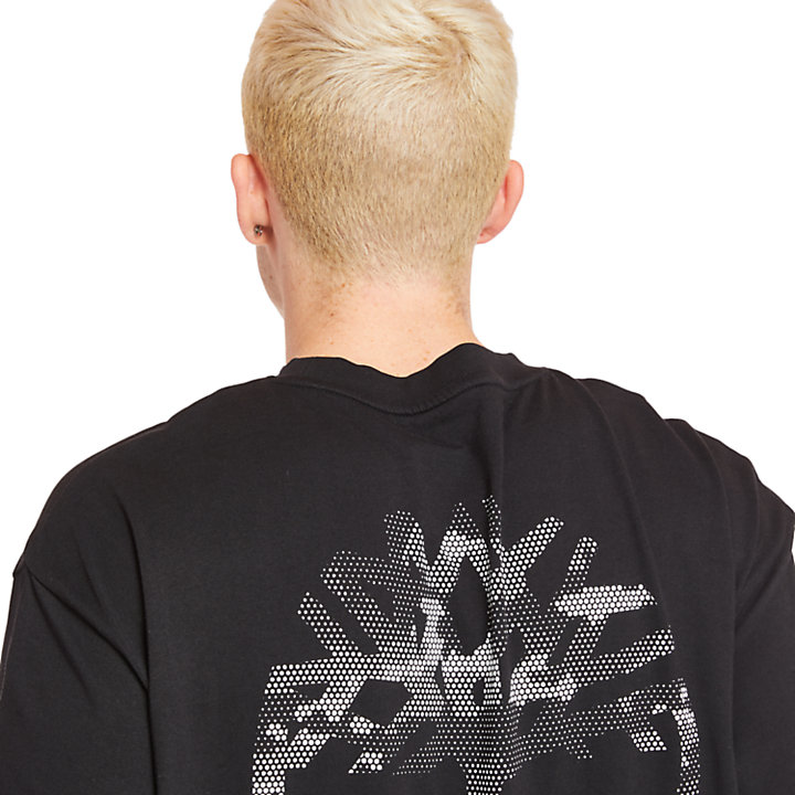 Back Tree Logo T-Shirt for Men in Black-