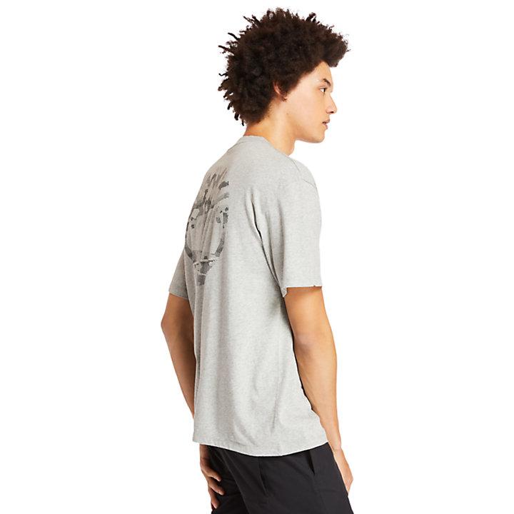 T-shirt à logo arbre au dos pour homme en gris-
