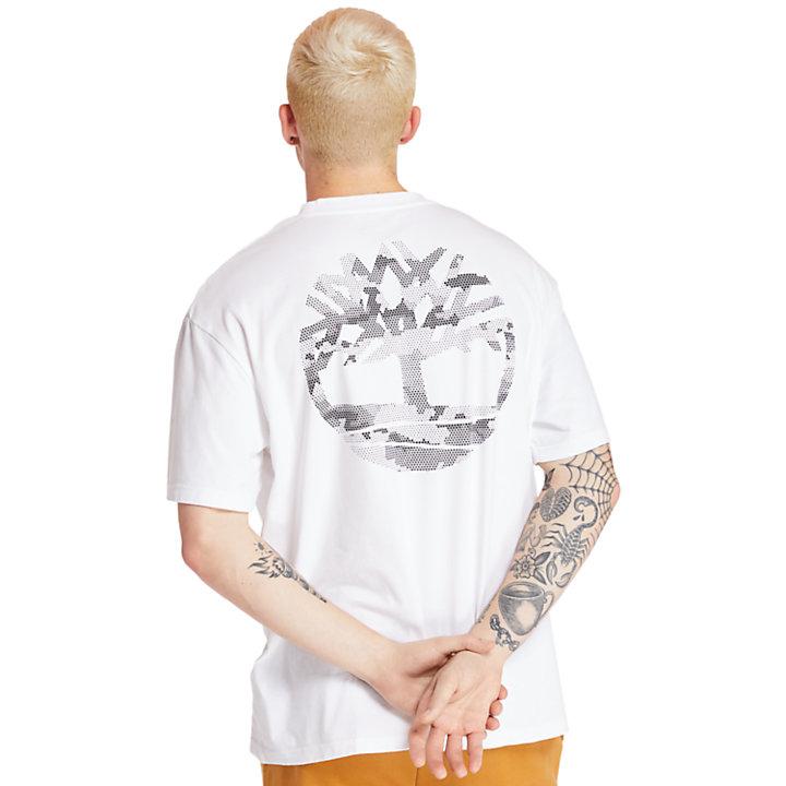 Camiseta con Logotipo del Árbol en la Espalda para Hombre en blanco-