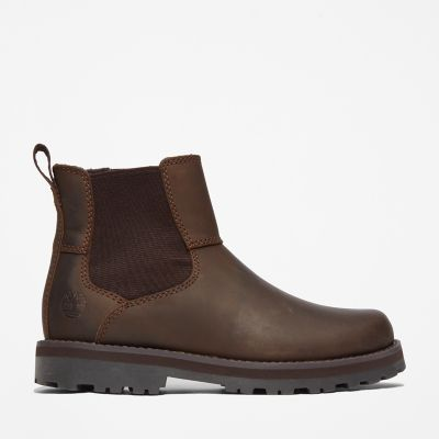 Courma+Kid+Chelsea+Boot+for+Junior+in+Dark+Brown
