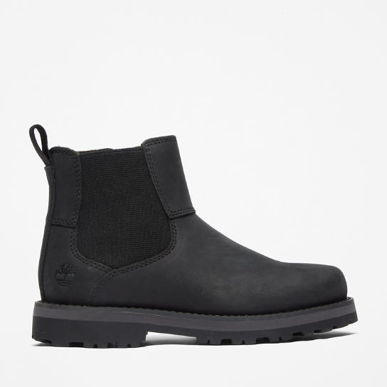 Bottine Chelsea Courma Kid junior en noir | Timberland