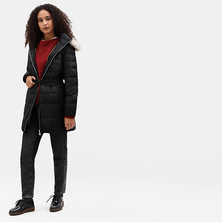 Quilted Parka for Women in Black-