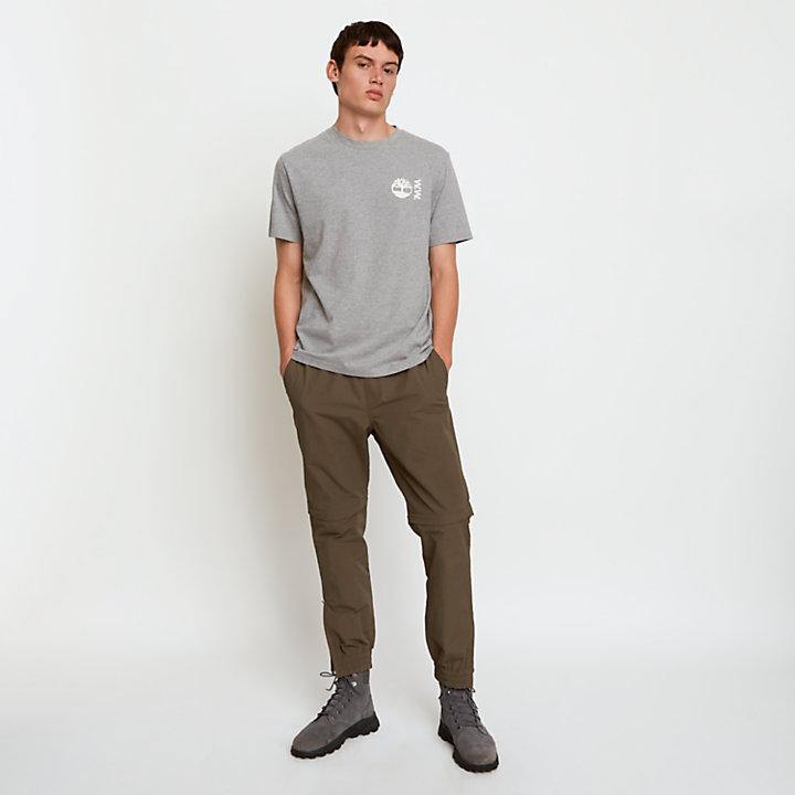 Timberland® x WoodWood T-Shirt for Men in Grey-