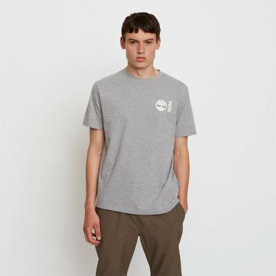Timberland%C2%AE+x+WoodWood+T-Shirt+for+Men+in+Grey