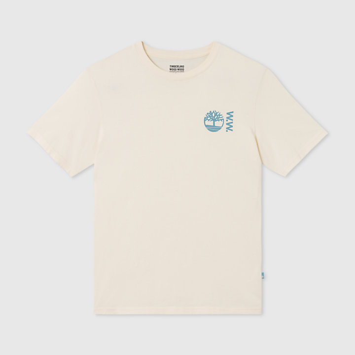 Timberland® x WoodWood T-Shirt for Men in Beige-
