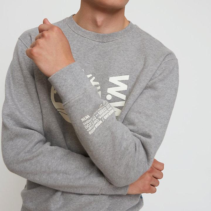 Sudadera de Cuello Redondo Timberland® x WoodWood para Hombre en gris-