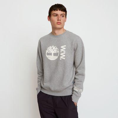 Felpa Girocollo da Uomo Timberland® x WoodWood in grigio