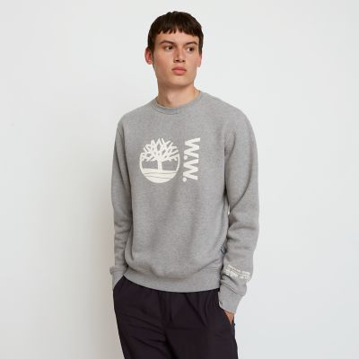 Timberland%C2%AE+x+WoodWood+Crew+Sweatshirt+for+Men+in+Grey