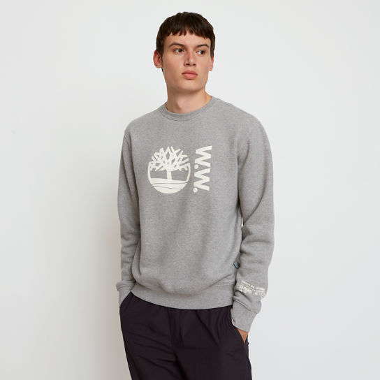 Sweat à col ras du cou Timberland® x WoodWood pour homme en gris | Timberland