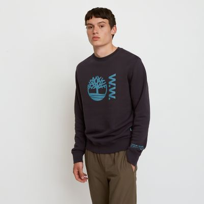 Timberland%C2%AE+x+WoodWood+Crew+Sweatshirt+for+Men+in+Black