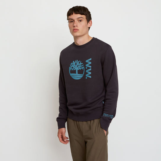 Timberland® x WoodWood Crew Sweatshirt for Men in Black | Timberland