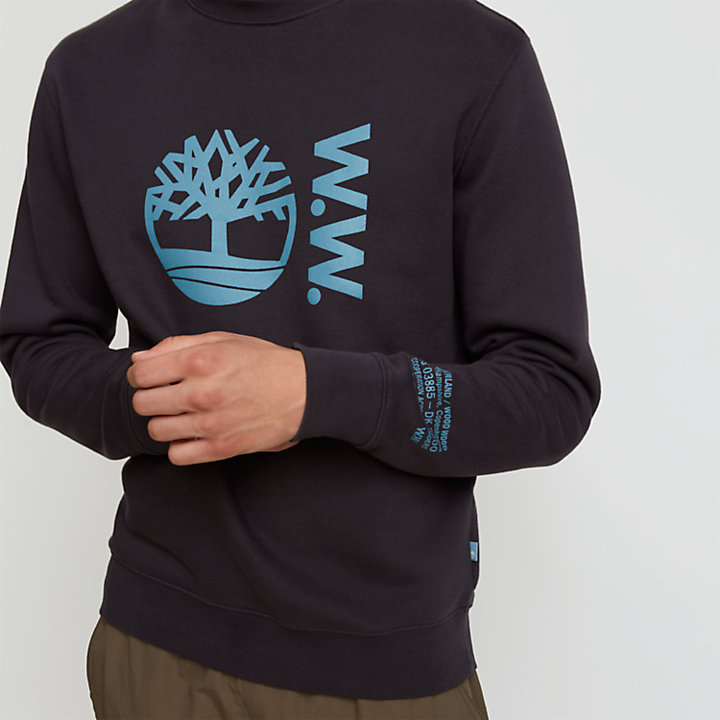 Timberland® x WoodWood Crew Sweatshirt for Men in Black-