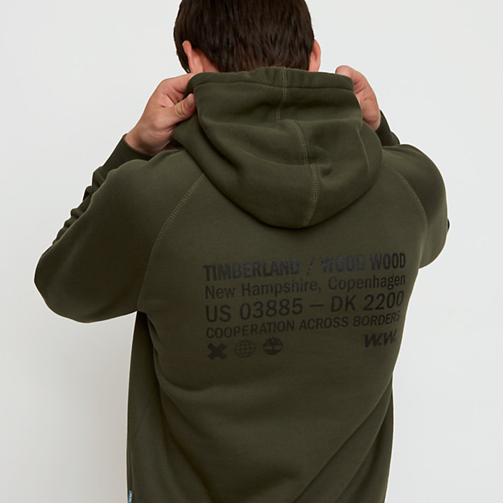 Timberland® x WoodWood Hoodie for Men in Green-