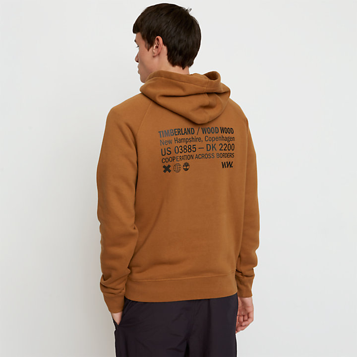 Sweat à capuche Timberland® x WoodWood pour homme en marron-