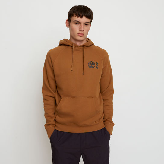 Sweat à capuche Timberland® x WoodWood pour homme en marron | Timberland