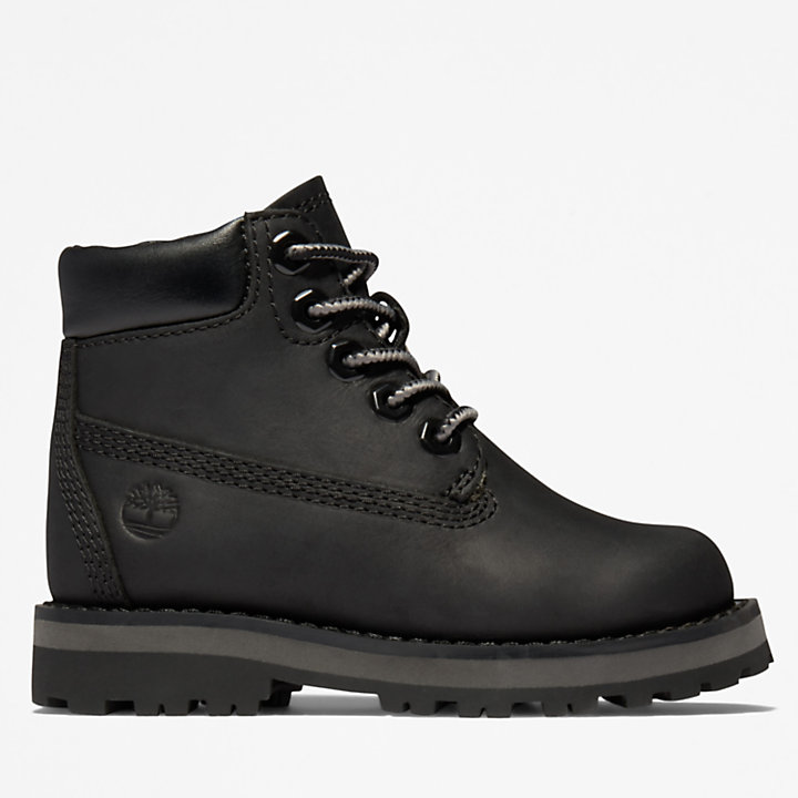 Courma Kid 6 Inch Boot voor Peuters in zwart-