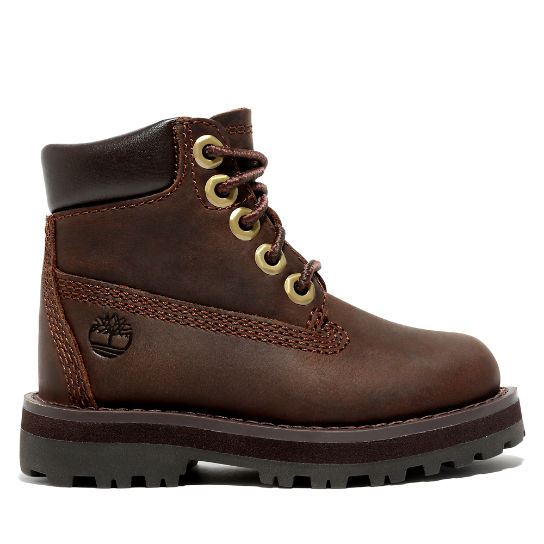Courma Kid 6 Inch Boot for Toddler in Dark Brown | Timberland