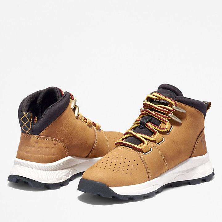 Brooklyn Sneaker zum Schnüren für Kinder in Hellbraun-