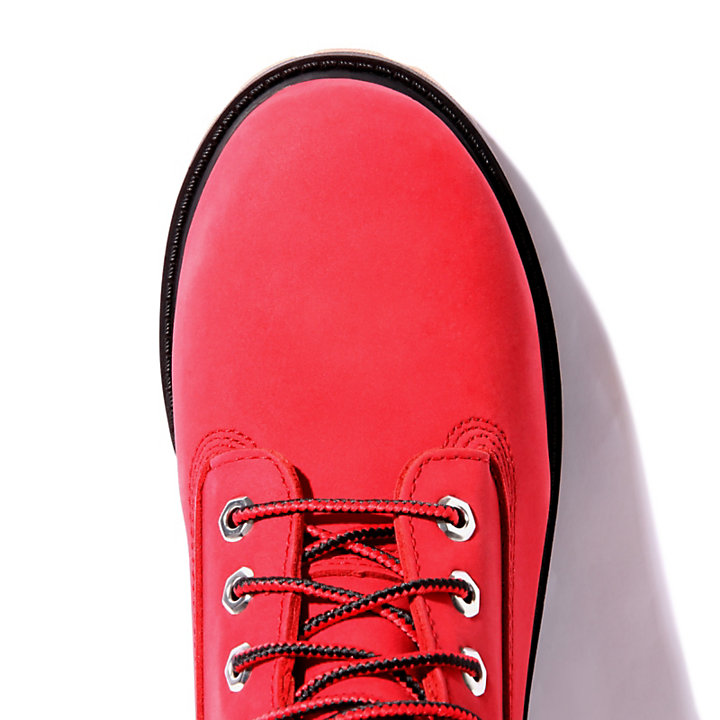 6 Inch Premium Boot for Junior in Red-