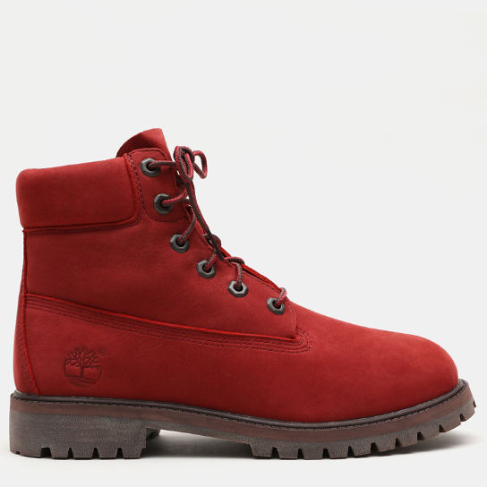 Premium 6 Inch Boot for Junior in Red | Timberland