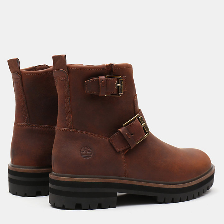 London Square Biker Boot for Women in Brown-