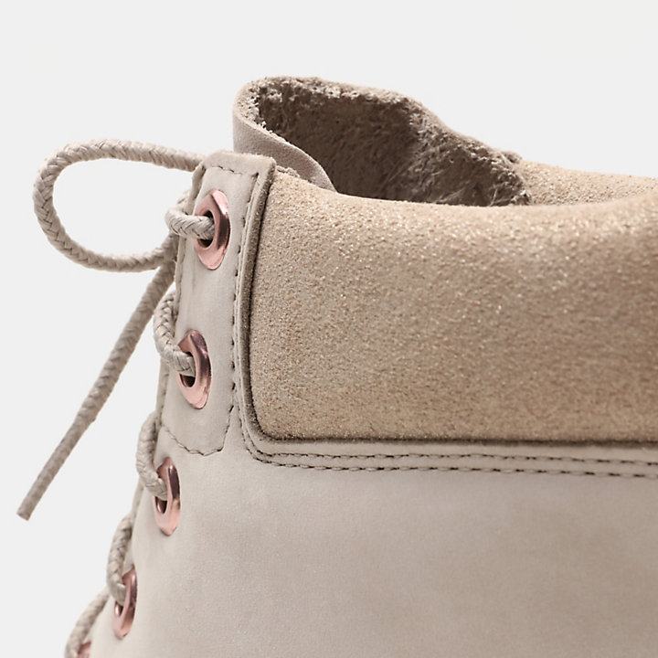 Premium 6 Inch Boot for Junior in Light Beige-