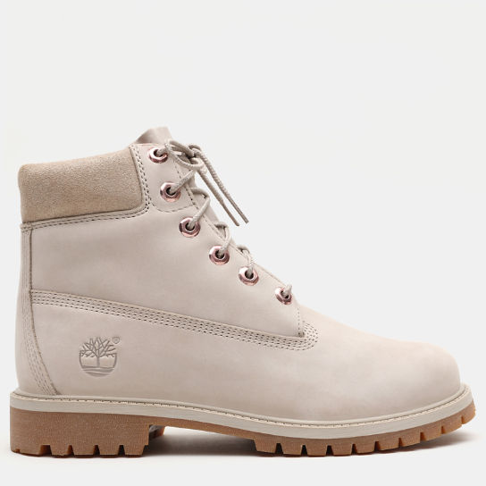 Premium 6 Inch Boot for Junior in Light Beige | Timberland