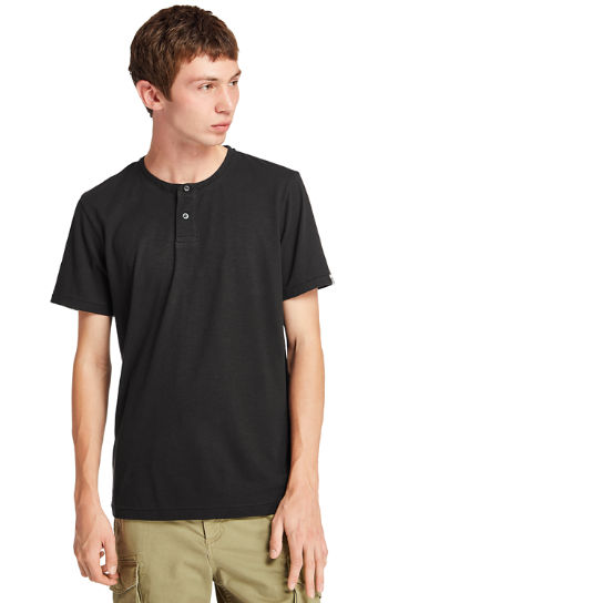 Upper Ammonoosuc River Henley Shirt for Men in Black | Timberland