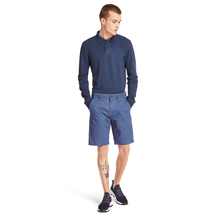 Squam Lake Stretch Chinoshort voor Heren in donkerblauw-