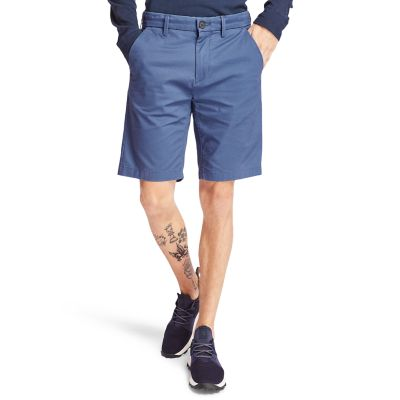 Squam+Lake+Stretch+Chinoshort+voor+Heren+in+donkerblauw