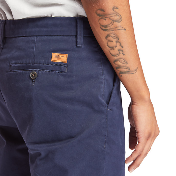 Short chino stretch Squam Lake pour homme en bleu marine-
