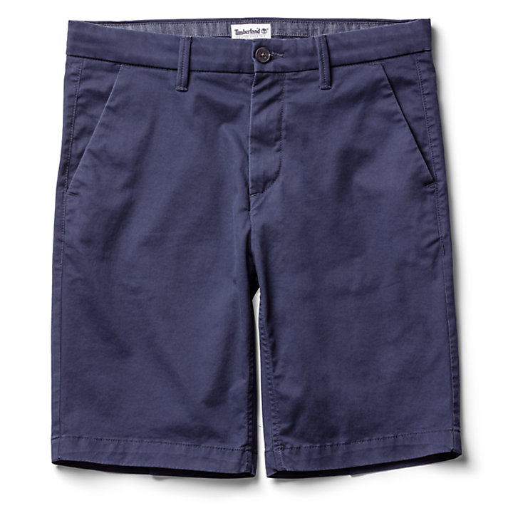 Squam Lake Stretch Chinoshort voor Heren in marineblauw-