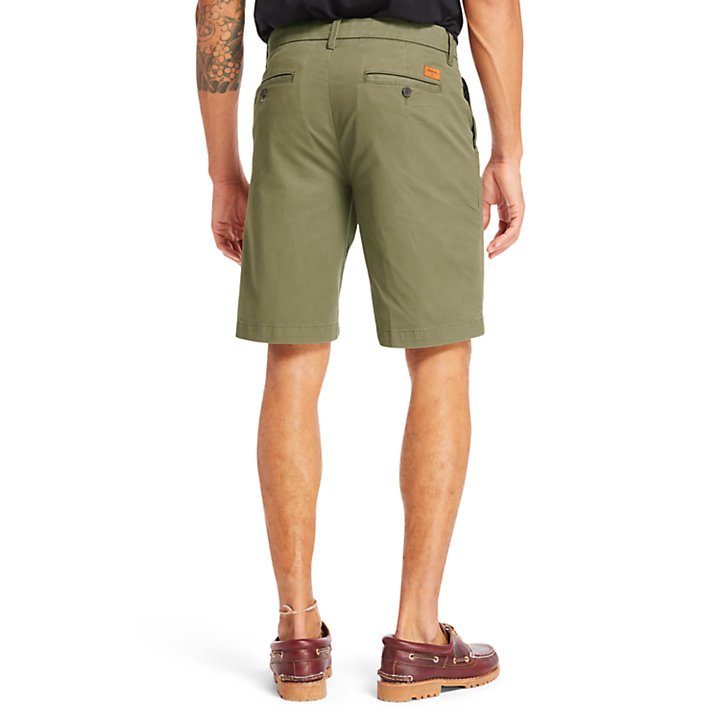 Shorts Chino da Uomo Elasticizzati Squam Lake in verde-