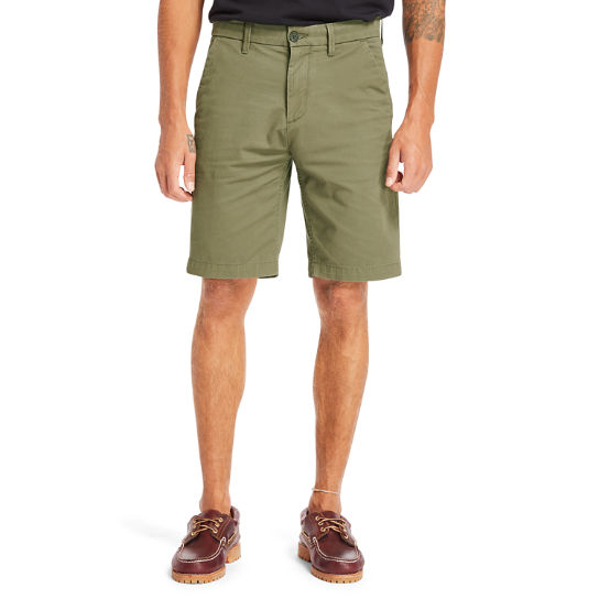 Shorts Chino da Uomo Elasticizzati Squam Lake in verde | Timberland