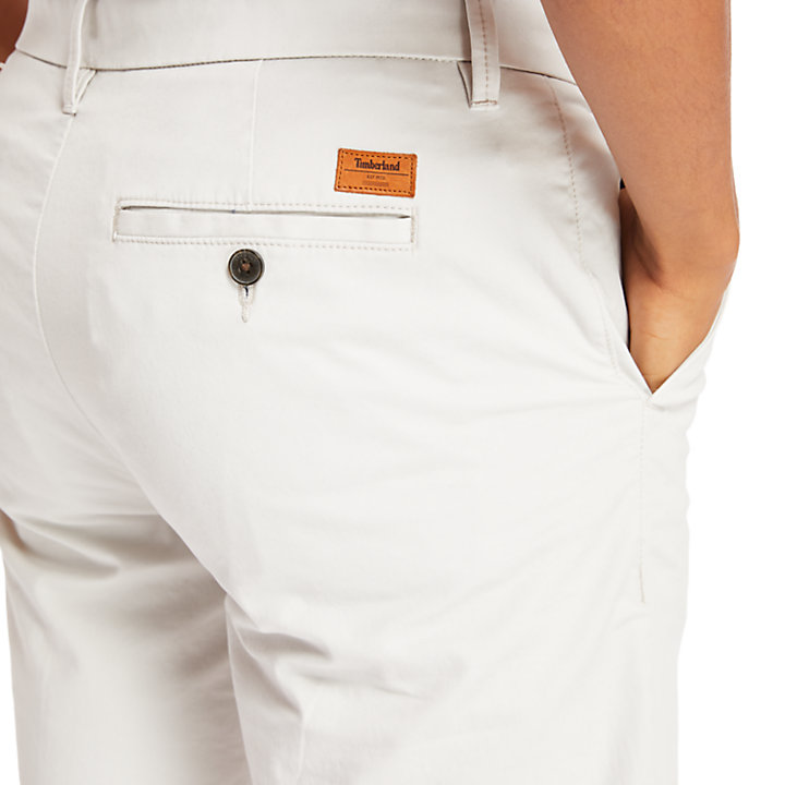 Squam Lake Stretch Chino Shorts for Men in Grey-