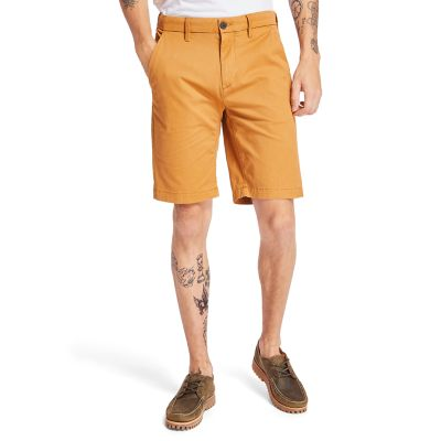 Shorts+Chino+da+Uomo+Elasticizzati+Squam+Lake+in+giallo